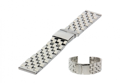 Horlogeband 26mm staal geborsteld