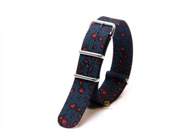 Hypergrand horlogeband 20mm Miliband Leopard