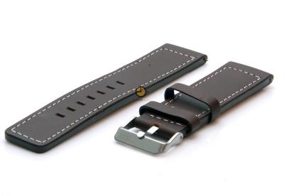 Oozoo horlogeband 22mm bruin leer