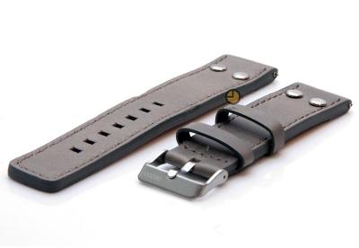 Oozoo horlogeband 22mm grijs leer