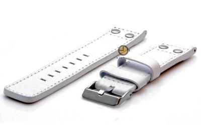 Oozoo horlogeband 22mm wit leer