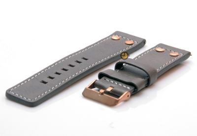 Oozoo horlogeband 24mm bruin leer