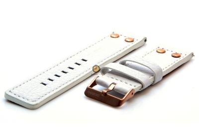 Oozoo horlogeband 24mm wit leer