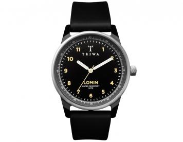 Triwa horlogeband midnight rubber lomin