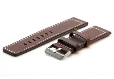 Oozoo horlogeband 20mm bruin leer