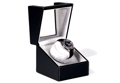 Watchwinder 1 horloge zwart leer
