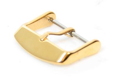Horlogeband gesp 22mm glans goud