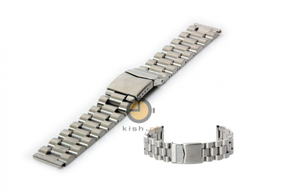Horlogeband 24mm massief edelstaal zilver