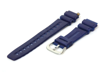 Horlogeband 20mm blauw rubber