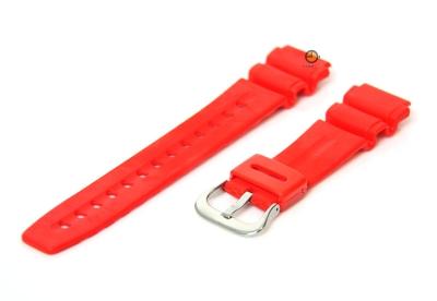 Horlogeband 20mm rood rubber