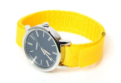 Horlogeband 16mm nylon geel