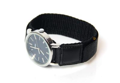 Horlogeband 18mm nylon zwart