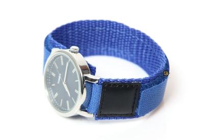 Horlogeband 16mm nylon blauw
