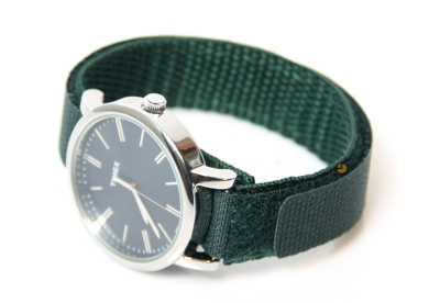 Horlogeband 16mm nylon groen