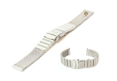 Horlogeband 22mm milanees mat zilver