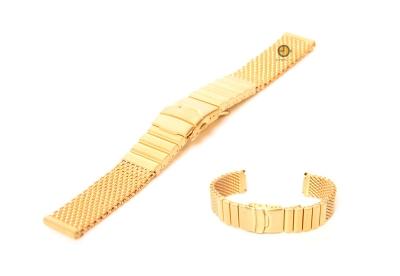 Horlogeband 22mm milanees mat goud