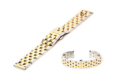 Horlogeband 18mm staal zilver/goud - gepolijst (BRT)