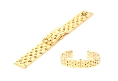 Horlogeband 22mm staal goud - gepolijst (BRT)