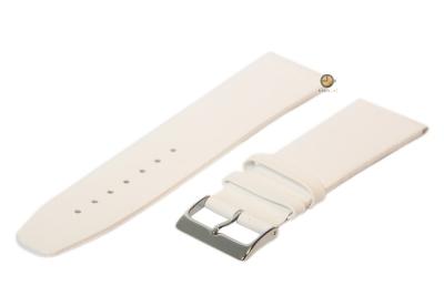 Horlogeband 28mm leer wit naadloos