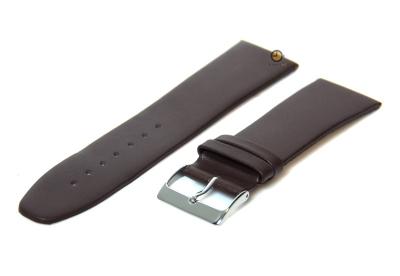 Horlogeband 28mm leer bruin naadloos