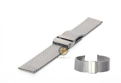 Milanese horlogeband 24mm zilver
