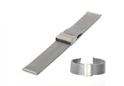 Milanese horlogeband 24mm zilver fijn