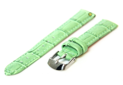 Horlogeband 12mm groen leer kroko