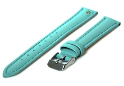 Horlogeband 16mm lichtblauw kalfsleer