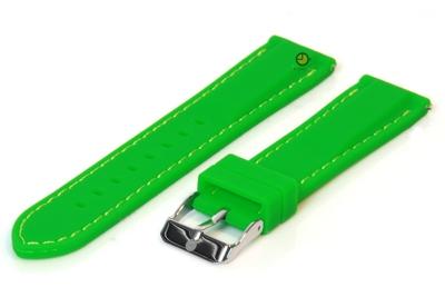 Horlogeband 18mm groen siliconen met quick-release