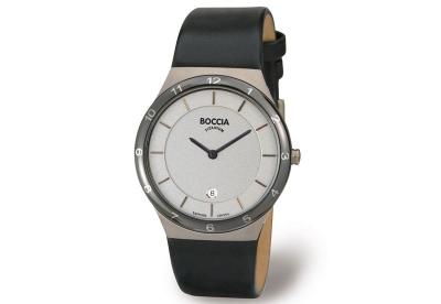 Boccia horlogeband 3563-01 zwart