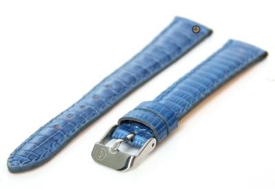 Horlogeband 14mm echt hagedissenleder lichtblauw