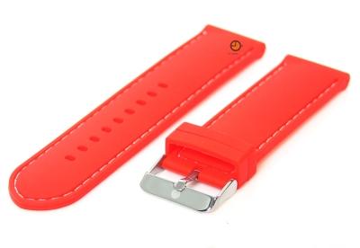 Rode horlogeband 24mm siliconen