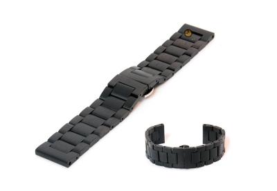 Houten horlogeband 24mm zwart (Blackwood)