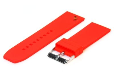 Horlogeband 28mm rood siliconen glad
