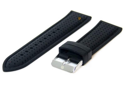 Horlogeband 24mm siliconen zwart