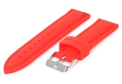Horlogeband 24mm siliconen rood