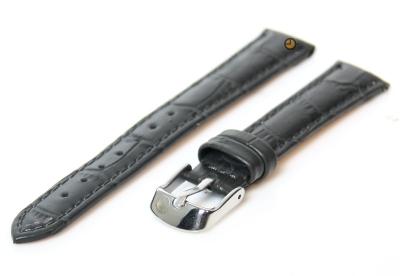 Horlogeband 12mm grijs leer kroko