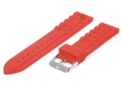 Siliconen horlogeband 24mm rood