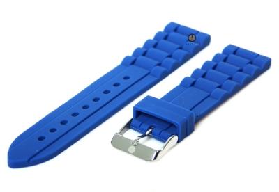 Siliconen horlogeband 22mm blauw