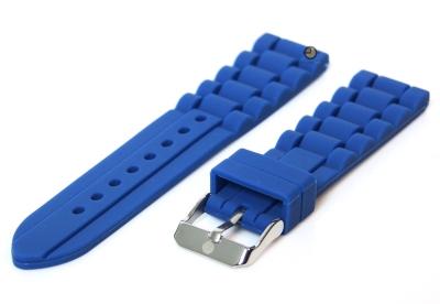 Siliconen horlogeband 18mm blauw