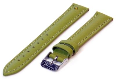 Horlogeband 12mm bosgroen kalfsleer