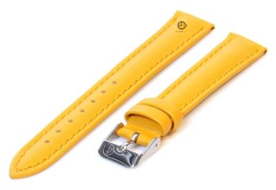 Horlogeband 16mm mosterdgeel kalfsleer