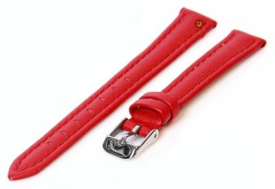 Horlogeband 14mm rood kalfsleer