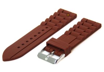 Siliconen horlogeband 24mm bruin