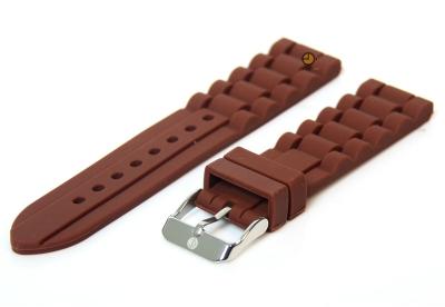 Siliconen horlogeband 18mm bruin