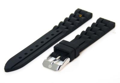 Siliconen horlogeband 16mm zwart