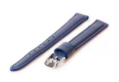 Horlogeband 12mm blauw kalfsleer