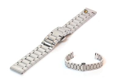 Horlogeband 16mm staal mat zilver