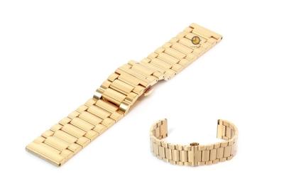 Horlogeband 20mm staal mat goud