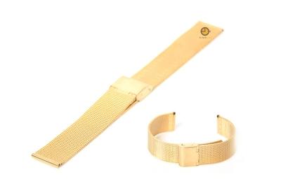 Milanese horlogeband 22mm goud fijn